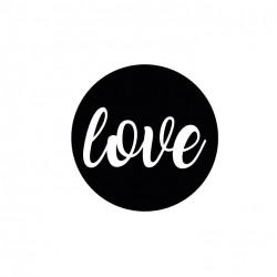 Sticker,Love (siyah)